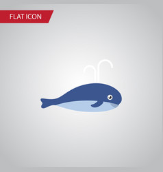 isolated whale flat icon cachalot element vector image