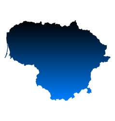 Map Of Lithuania Royalty Free Vector Image VectorStock - Lithuania map vector