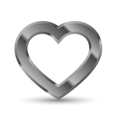 Metal heart shape vector image