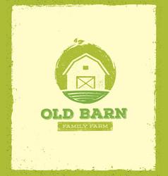 old barn local farm creative sign concept organic vector image vector image