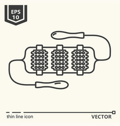one icon - massage tool series vector image