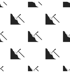 Pickaxe icon in black style isolated on white vector