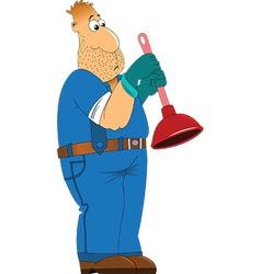 Plumber cartoon vector
