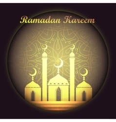 Ramadan Kareem background with islamic ornament vector image