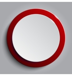 Red circle empty banner on white background vector