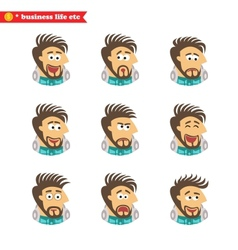 Software engineer facial emotions vector