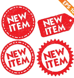 Stamp sticker new item tag collection - - e vector