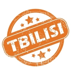 Tbilisi round stamp vector