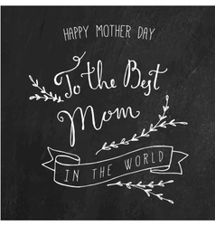 Vintage Happy Mothers Day Lettering Card vector image vector image