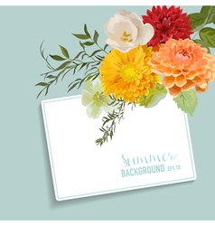 Vintage floral card with a tag for your text vector