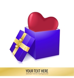 Open box with heart vector image