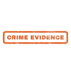 Crime evidence rubber stamp vector