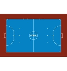 Futsal court or field top view vector image