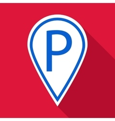 Car parking pointer icon flat style vector
