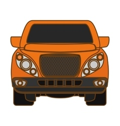 Pick up truck icon vector