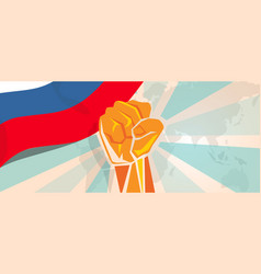 Russia fight and protest independence struggle vector