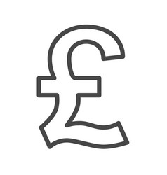 Pound thin line icon vector