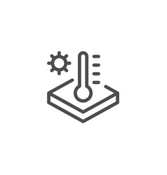 Insulation temperature line icon vector