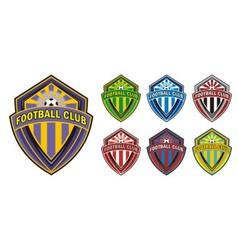 Football club logo vector image