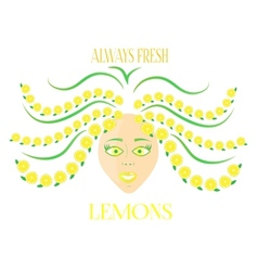 Woman with lemons vector image