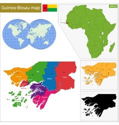 Guinea-bissau map vector