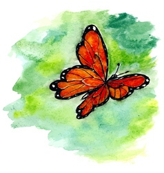 Watercolor Butterfly Design vector image