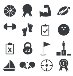 Simple sport icon set vector