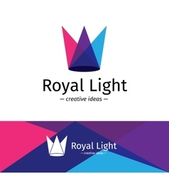 Minimalistic three color light rays vector