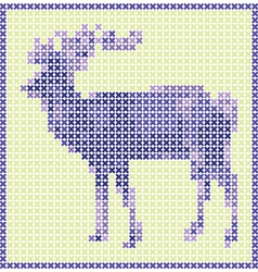 reindeer embroidery vector image