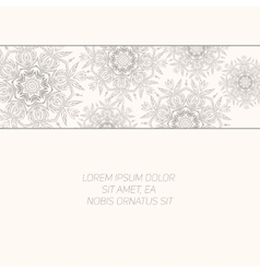 Floral abstract ornament vector