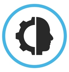 Cyborg gear flat rounded icon vector