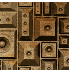 Composition grunge old rusty speaker sound system vector