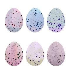 Watercolor easter eggs set vector