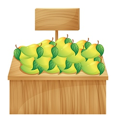 A mango stand with a wooden signboard vector image vector image