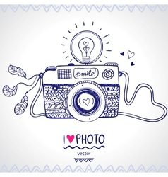 camera sketch vector image vector image