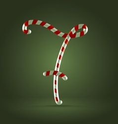 Candy cane abc 7 vector