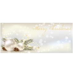 Christmas banner vector image vector image