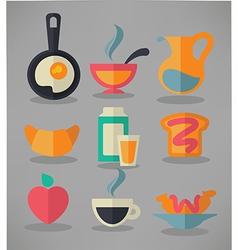common breakfast vector image vector image