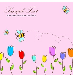 Cute floral postcard vector image vector image
