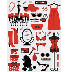 Fashion stuff vector image vector image