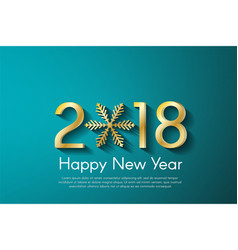 golden new year 2018 concept on turquoise vector image vector image