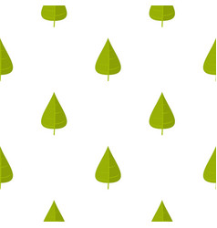 green poplar leaf pattern seamless vector image vector image