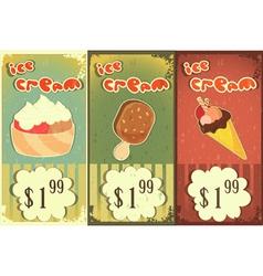 ice cream price vector image vector image
