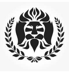 Lion head logotype vector image