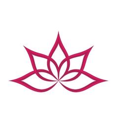 lotus flowers design logo Template vector image vector image