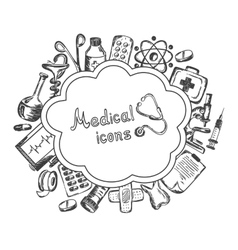 Medical icons set on a white background vector image