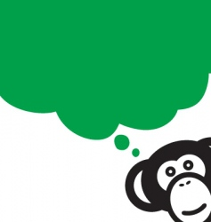 monkey talk vector image