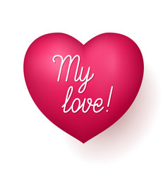 My love red heart vector