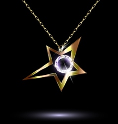 pendant with a large star vector image
