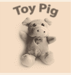 Pig cute toy vector